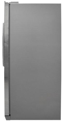 grey matte sides give this fridge a pleasing uniform look