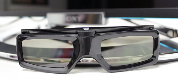 Sony includes four pairs of 3D glasses.