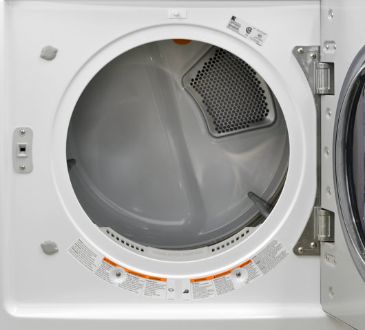 kenmore elite washer and dryer. the white enamel interior runs risk of getting damaged over time. kenmore elite washer and dryer