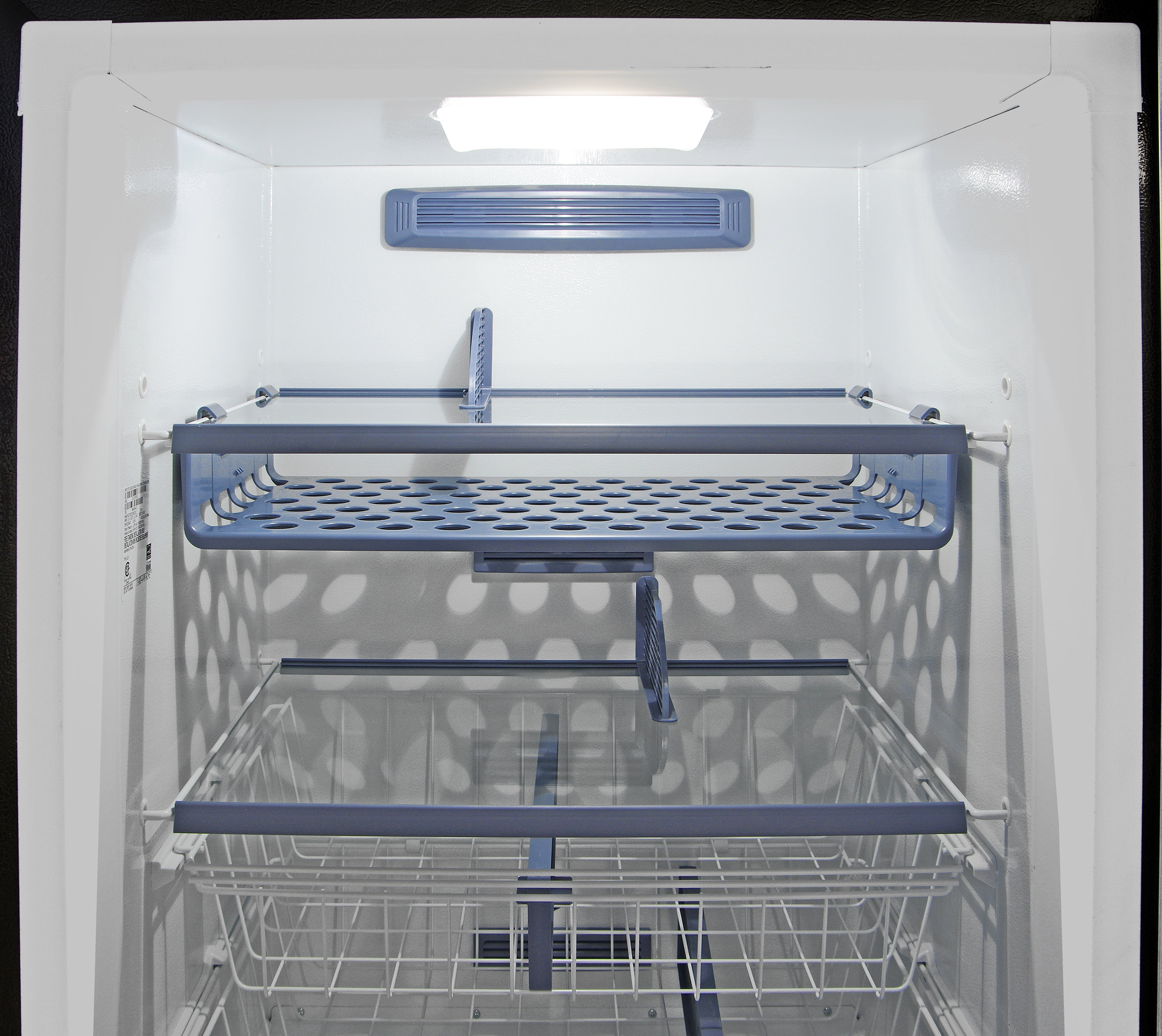 Up at the top of the Kenmore Elite 28093, you've got lots of storage options for keeping food accessible.