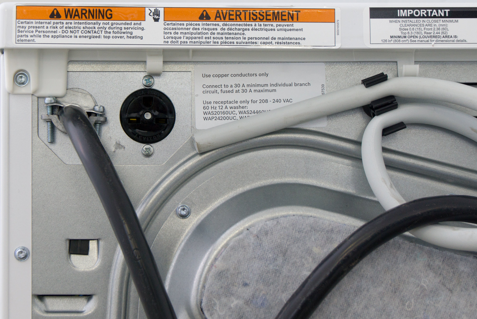 The Ascenta washer needs to plug into the dryer to work.