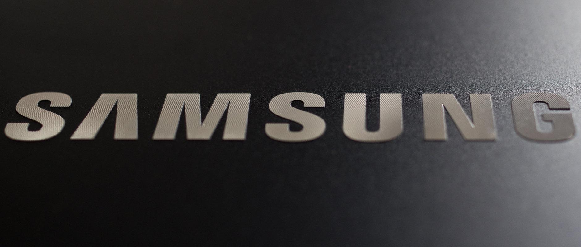 A photograph of the Samsung ATIV Book 9 2014 Edition's branding.