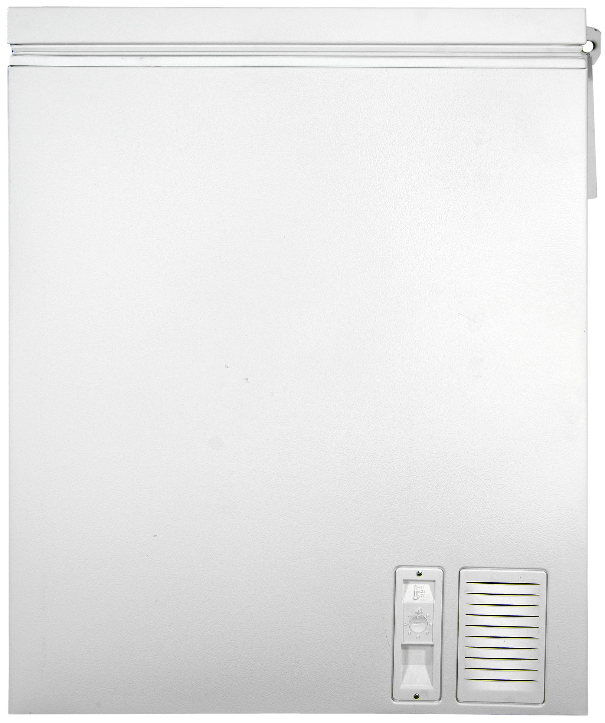 The Whirlpool EH151FXTQ's controls are located on the right side of the freezer, next to a small air vent.