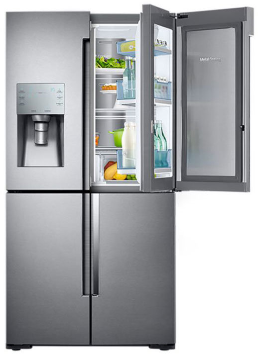 The RF28K9380 features Samsung's Food Showcase door-in-door storage.