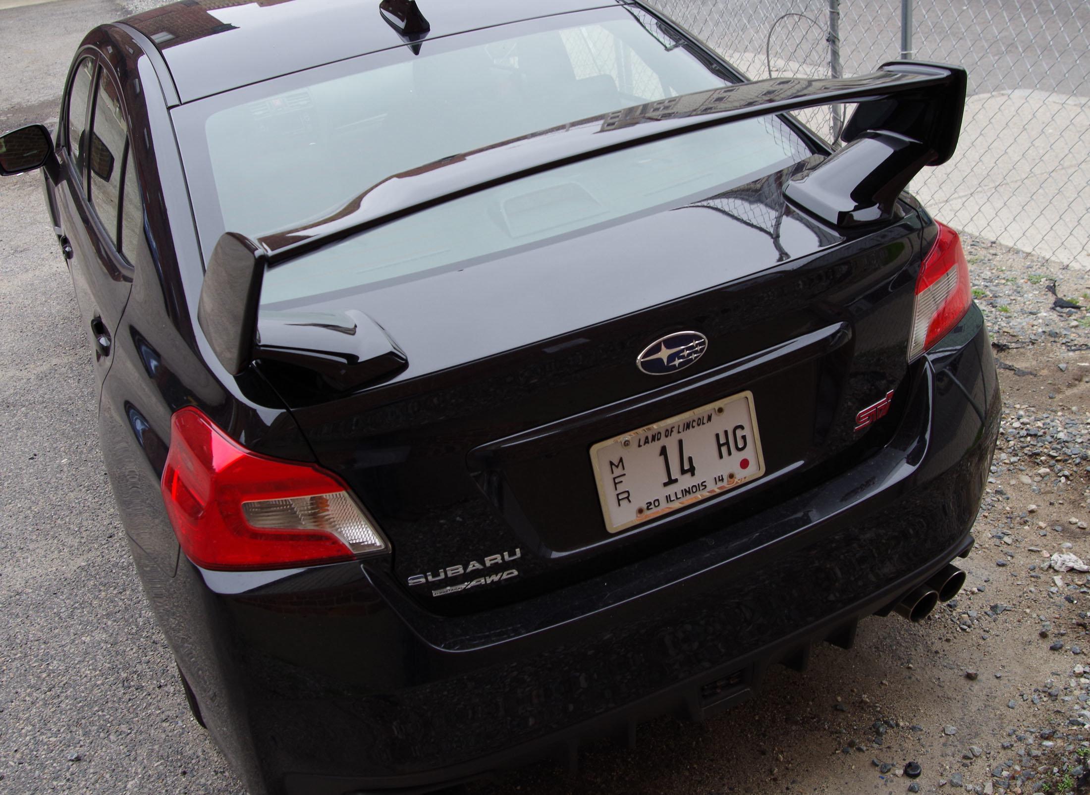 spoiler 2015 Subaru WRX STI