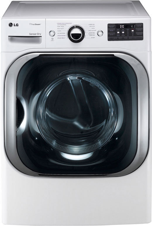 With the 9-cu.-ft. LG DLGX8001W gas dryer, size really does matter.