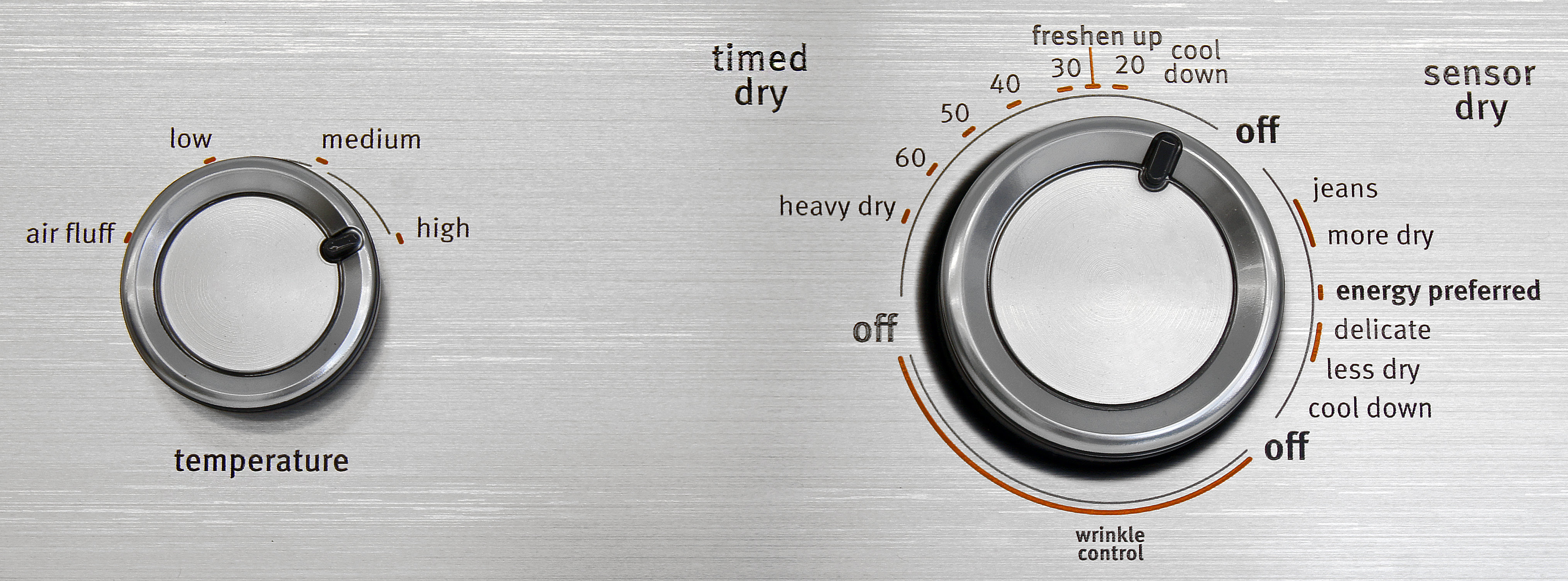 Despite the use of a crank timer, most of the Maytag Centennial MEDC555DW's cycles actually rely on sensors.