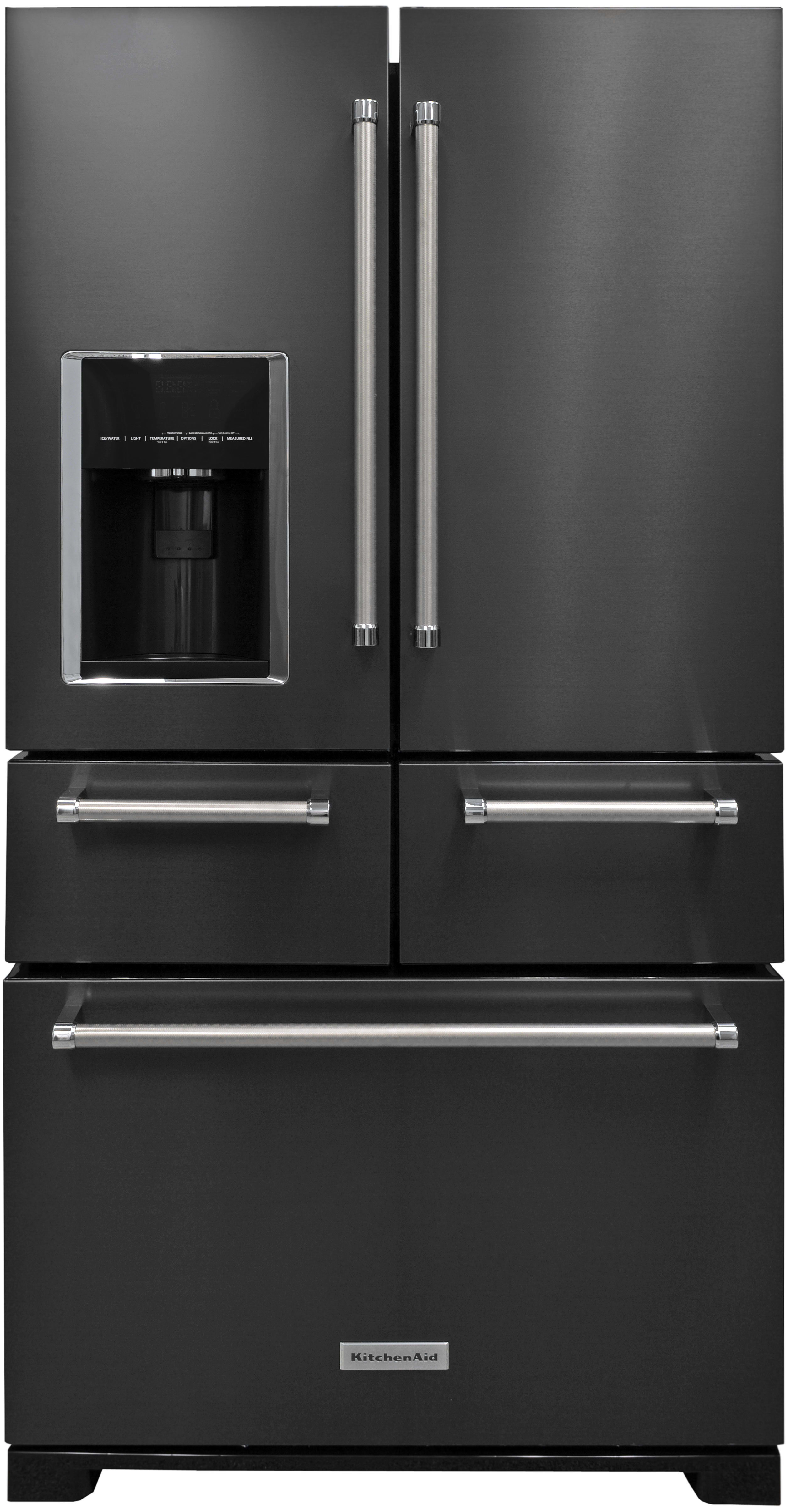 The KitchenAid KRMF706EBS: A Five Door, Black Stainless Steel Fridge?  Sounds Crazy