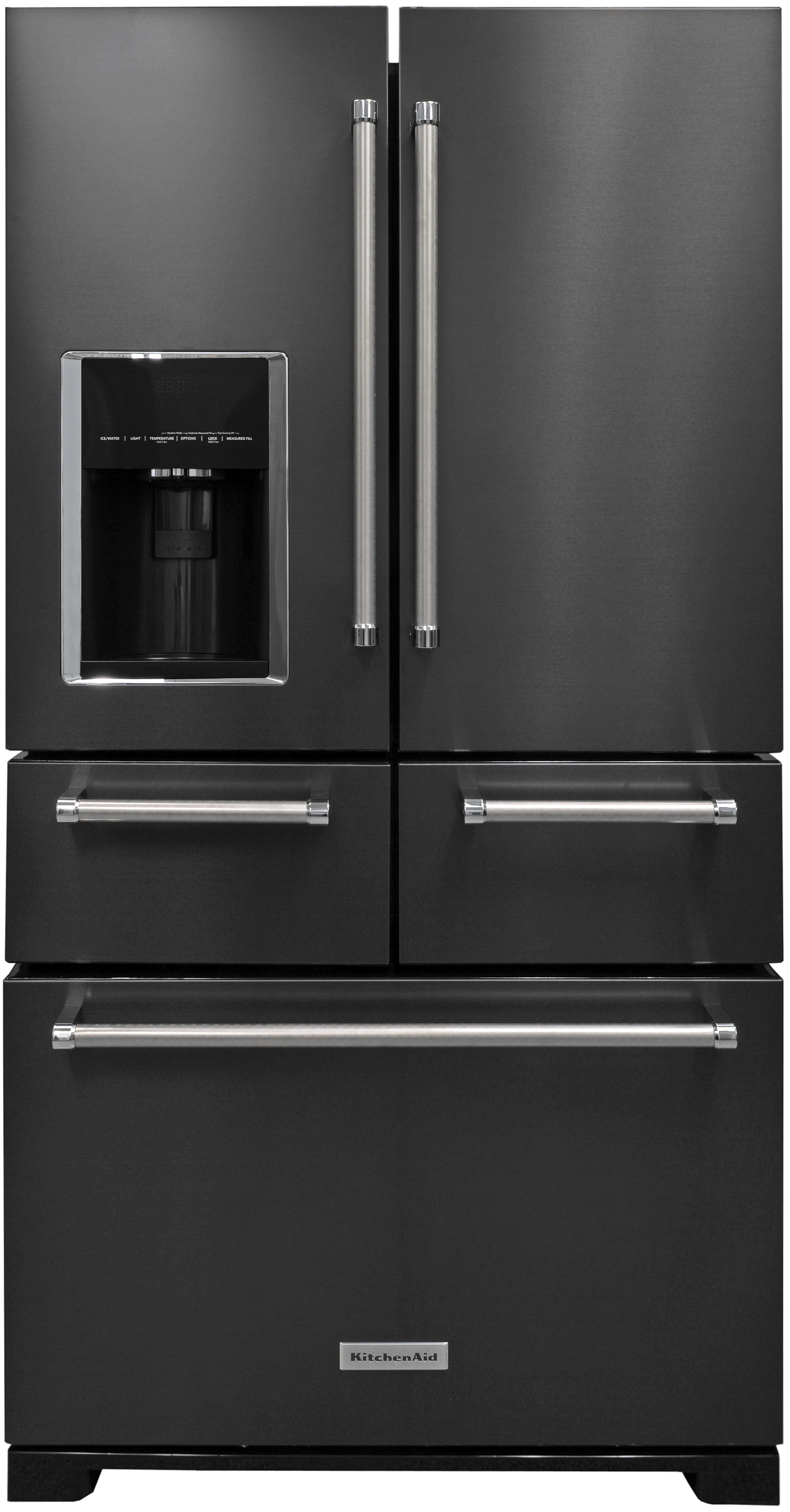 Kitchenaid krmf706ebs refrigerator review reviewed refrigerators the kitchenaid krmf706ebs a five door black stainless steel fridge sounds crazy rubansaba