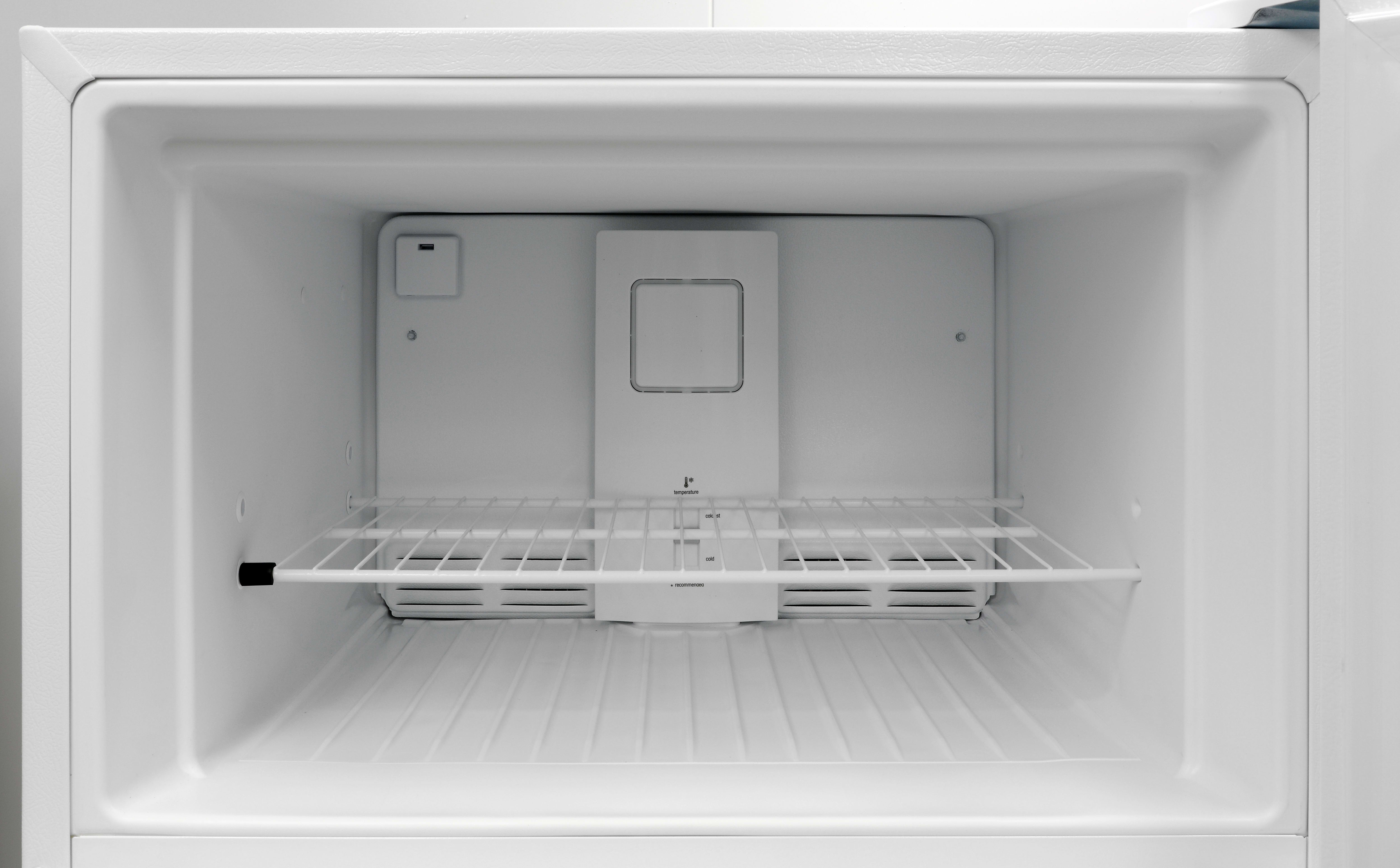 Without an icemaker, the Frigidaire FFTR1814QW's freezer can hold plenty of frozen food.
