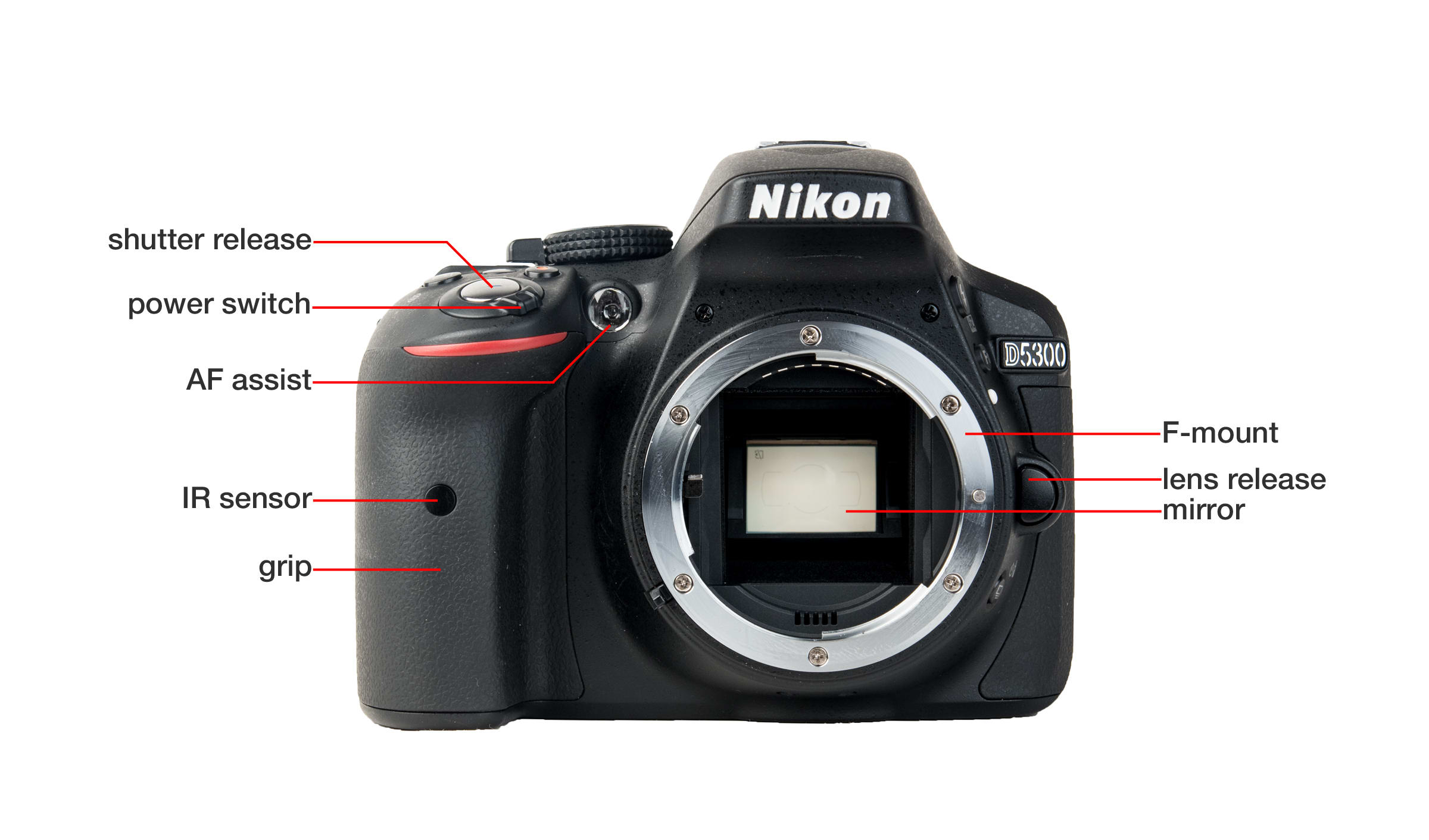 Front of Nikon D5300