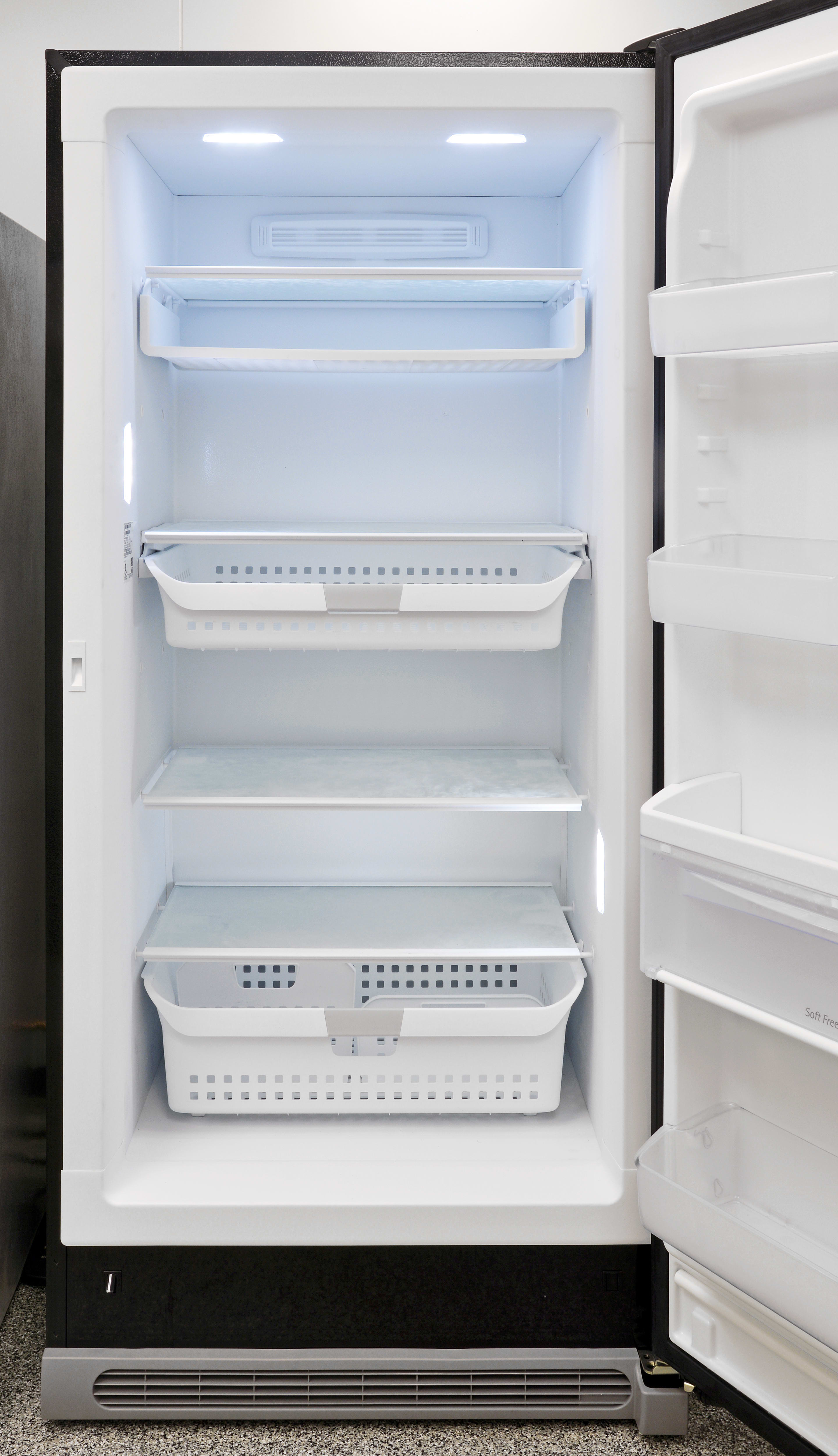 The main section of the Kenmore Elite 27003 has plenty of adjustable shelves and sliding drawers for easy organization.