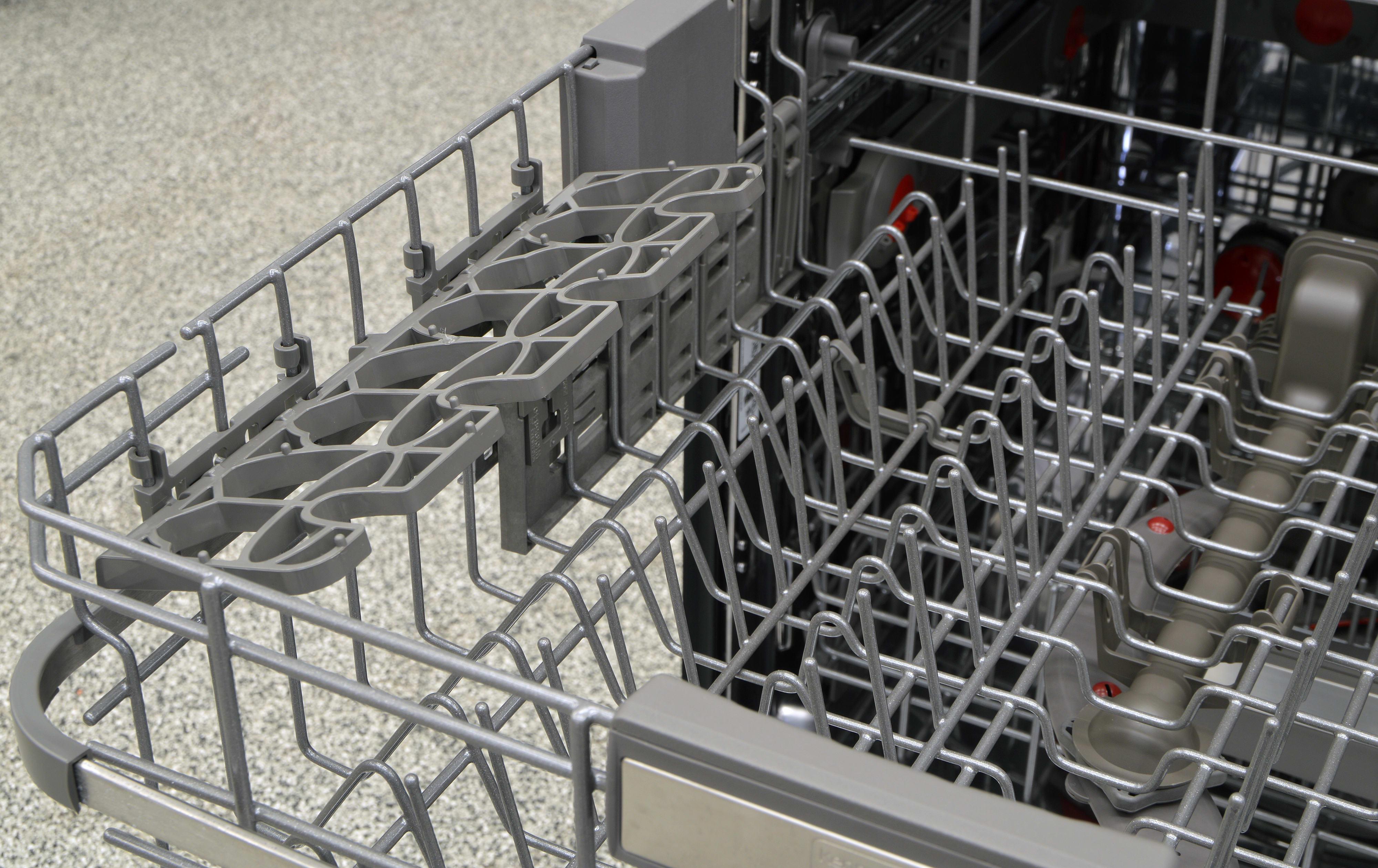 A fold-down shelf on the upper rack