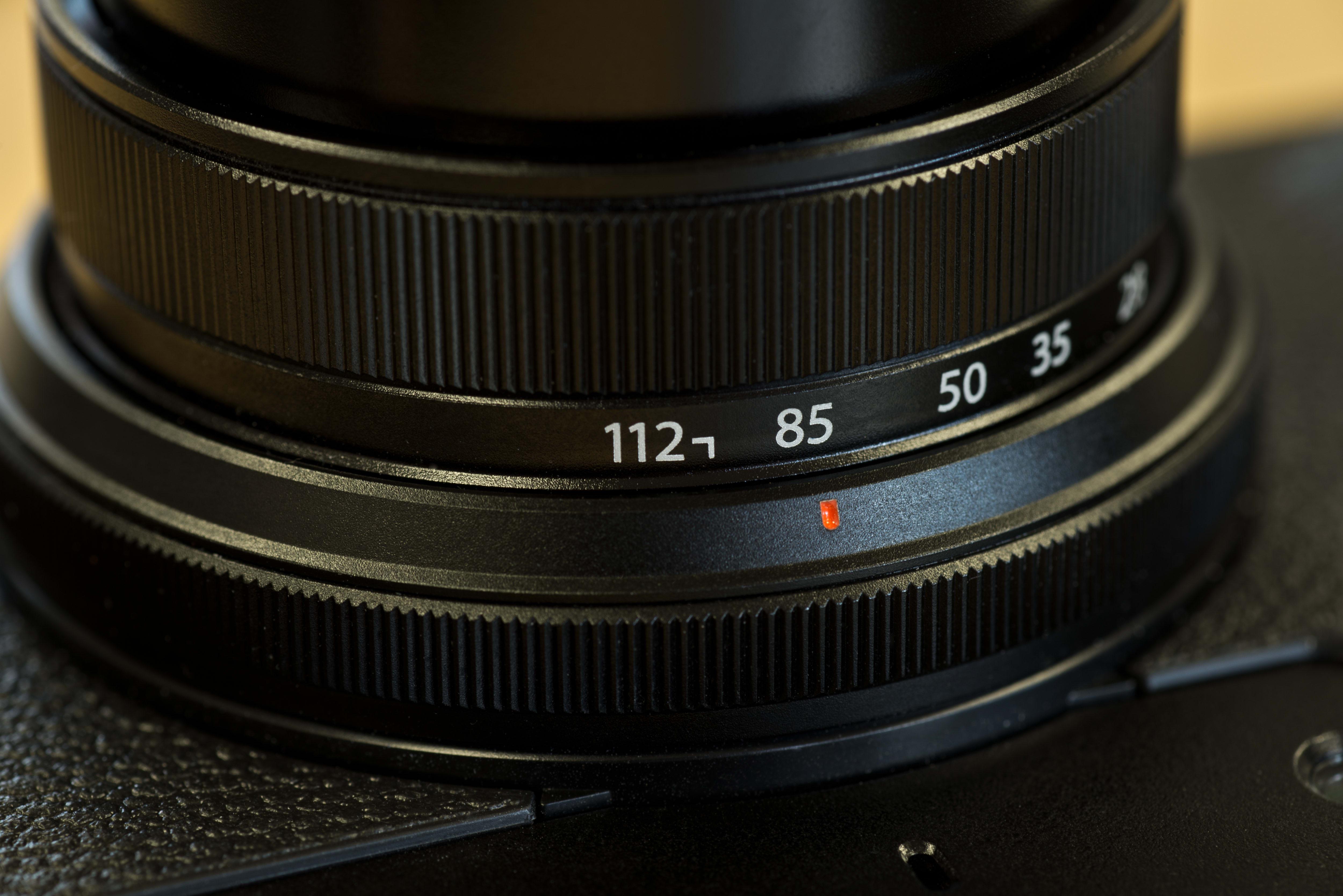 A photo of the Fujifilm X30's on-lens control wheel.