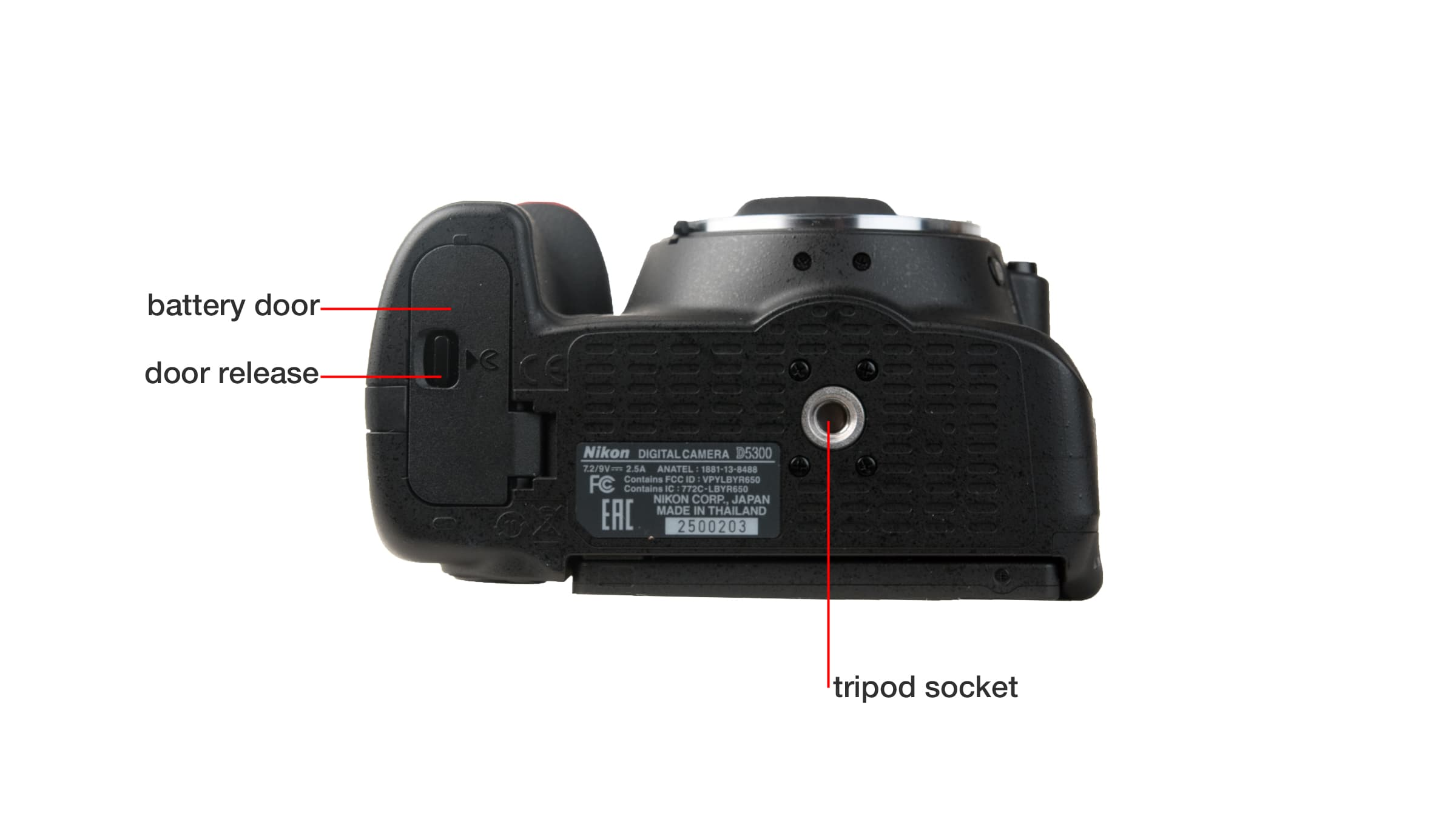 Bottom of Nikon D5300