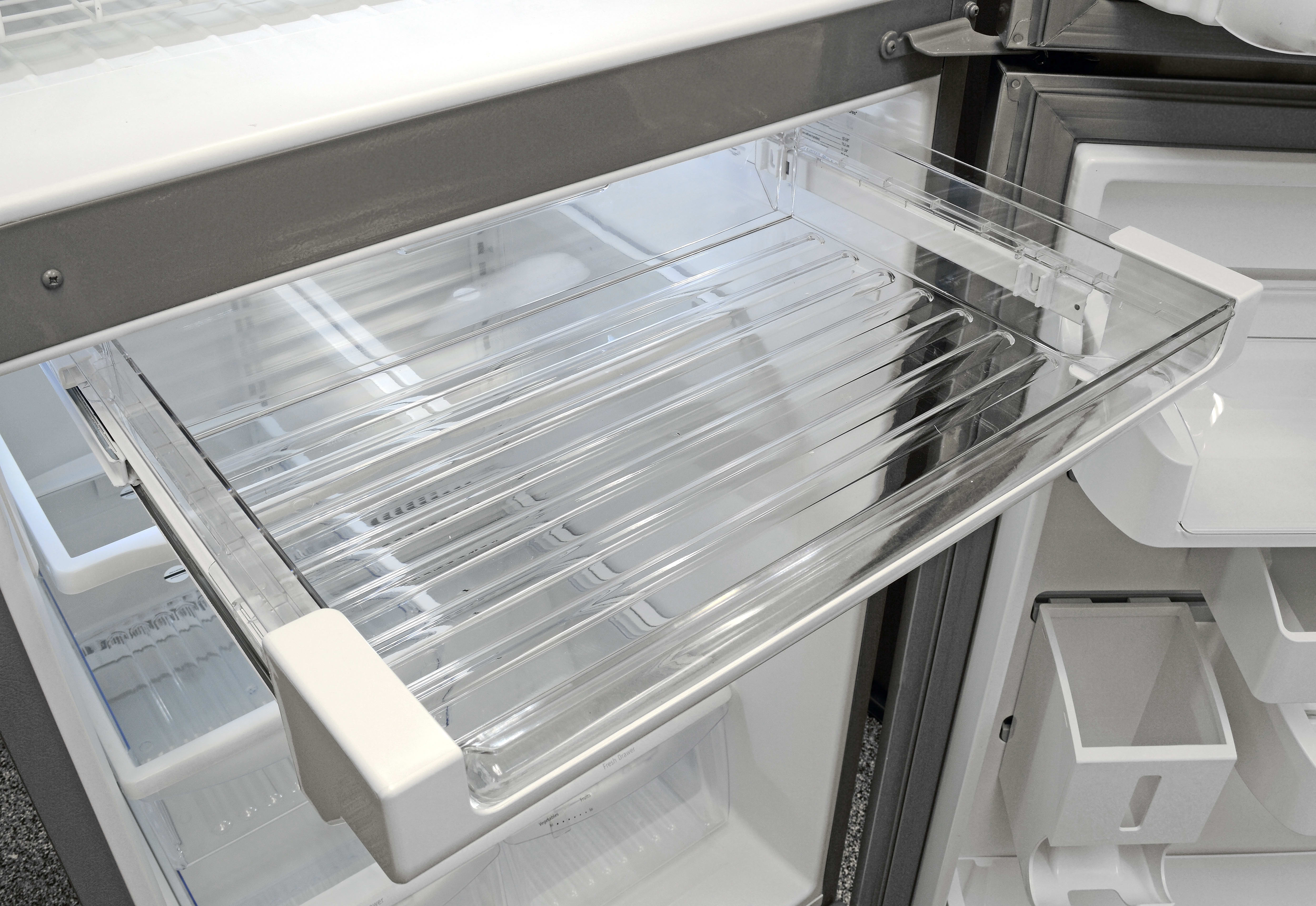 An extra drawer at the top of the Frigidaire Gallery FGHI2164QF's fridge compartment is ideal for storing easy-access snacks. You can even turn it into a drink rack.