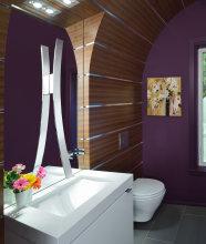 NKBA design trends 2015 purple bathroom