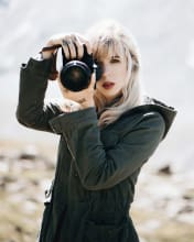 Woman with camera