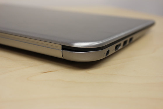 The KIRAbook is slightly thicker than comparable ultrabooks.