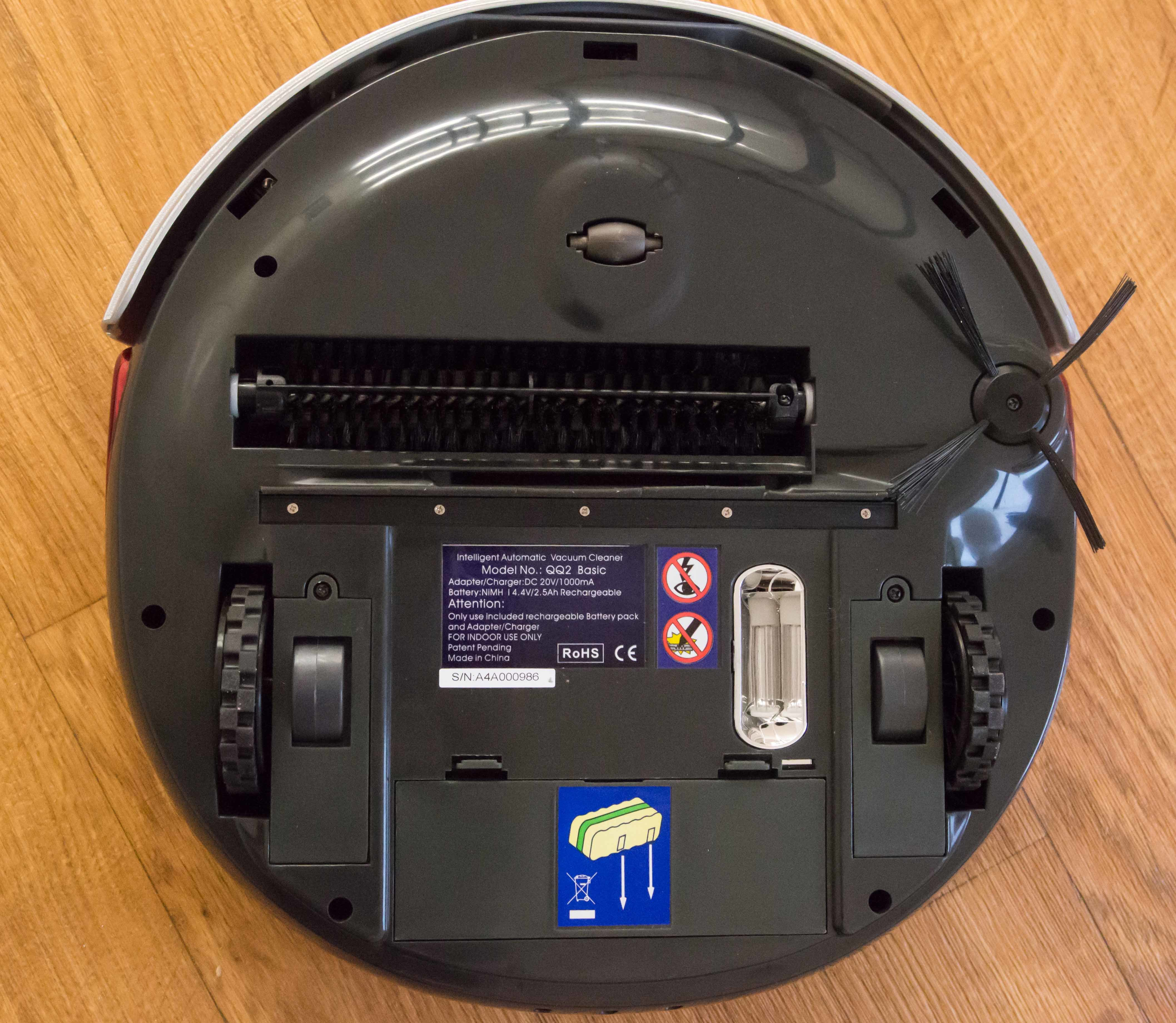 The QQ-2 has a UV light that helps sanitize the floor.