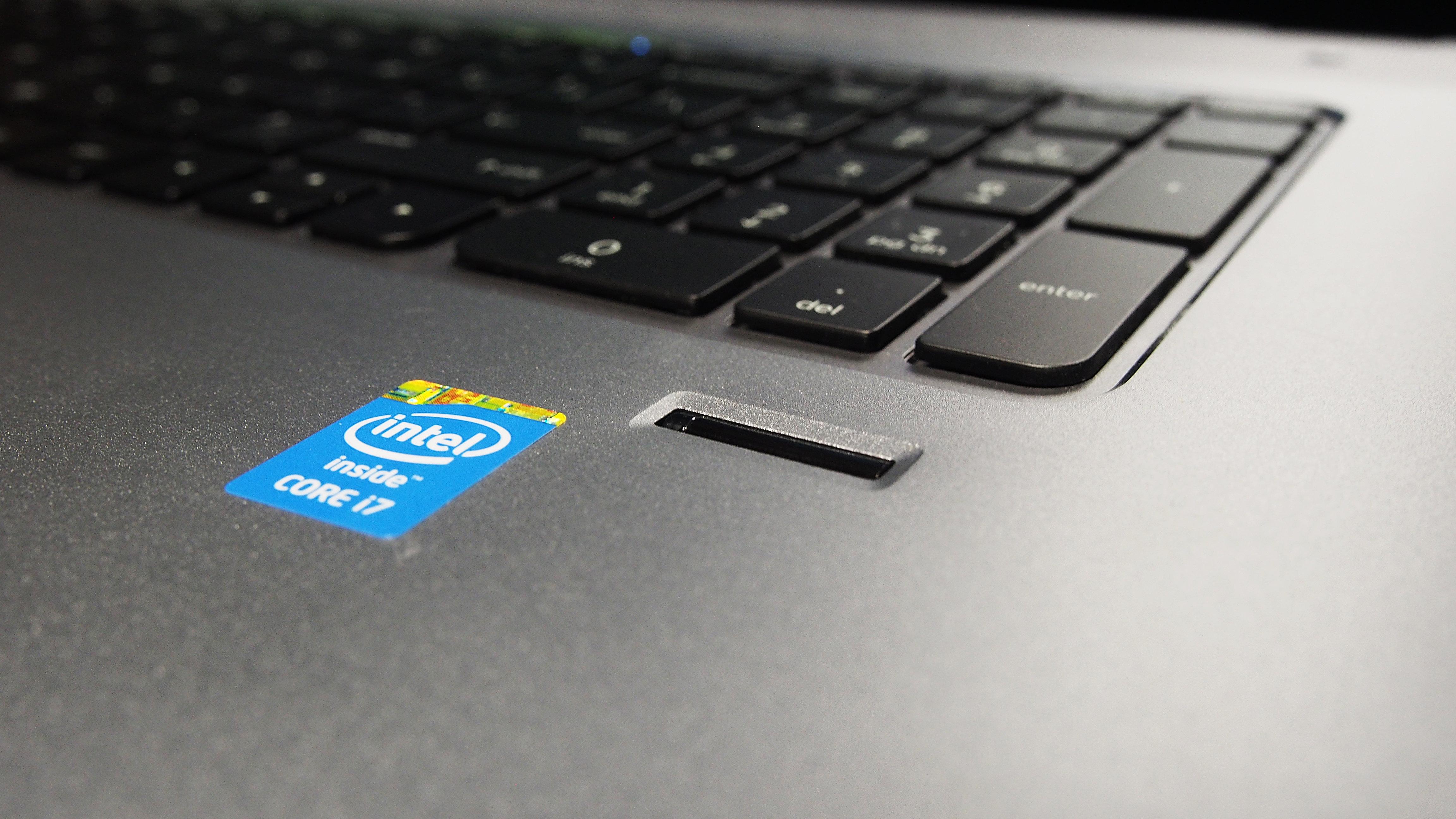 The HP Envy TouchSmart 17's fingerprint scanner