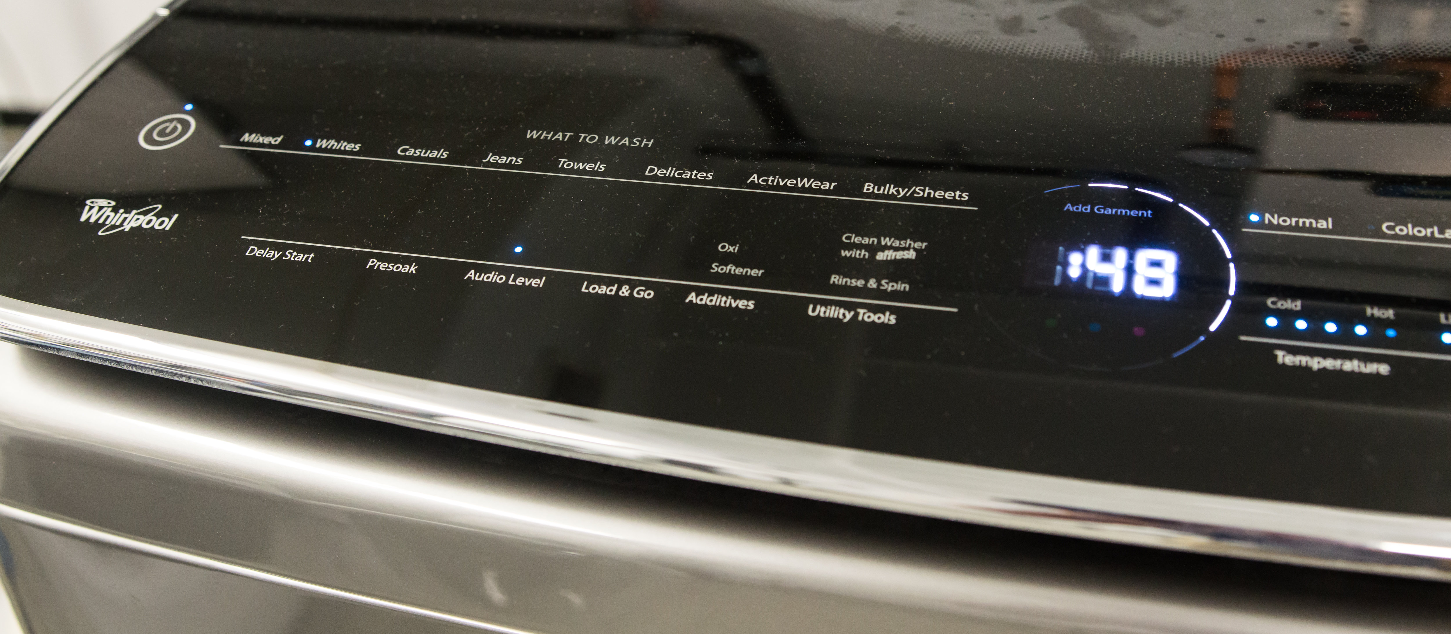 The What to Wash side of the interface.