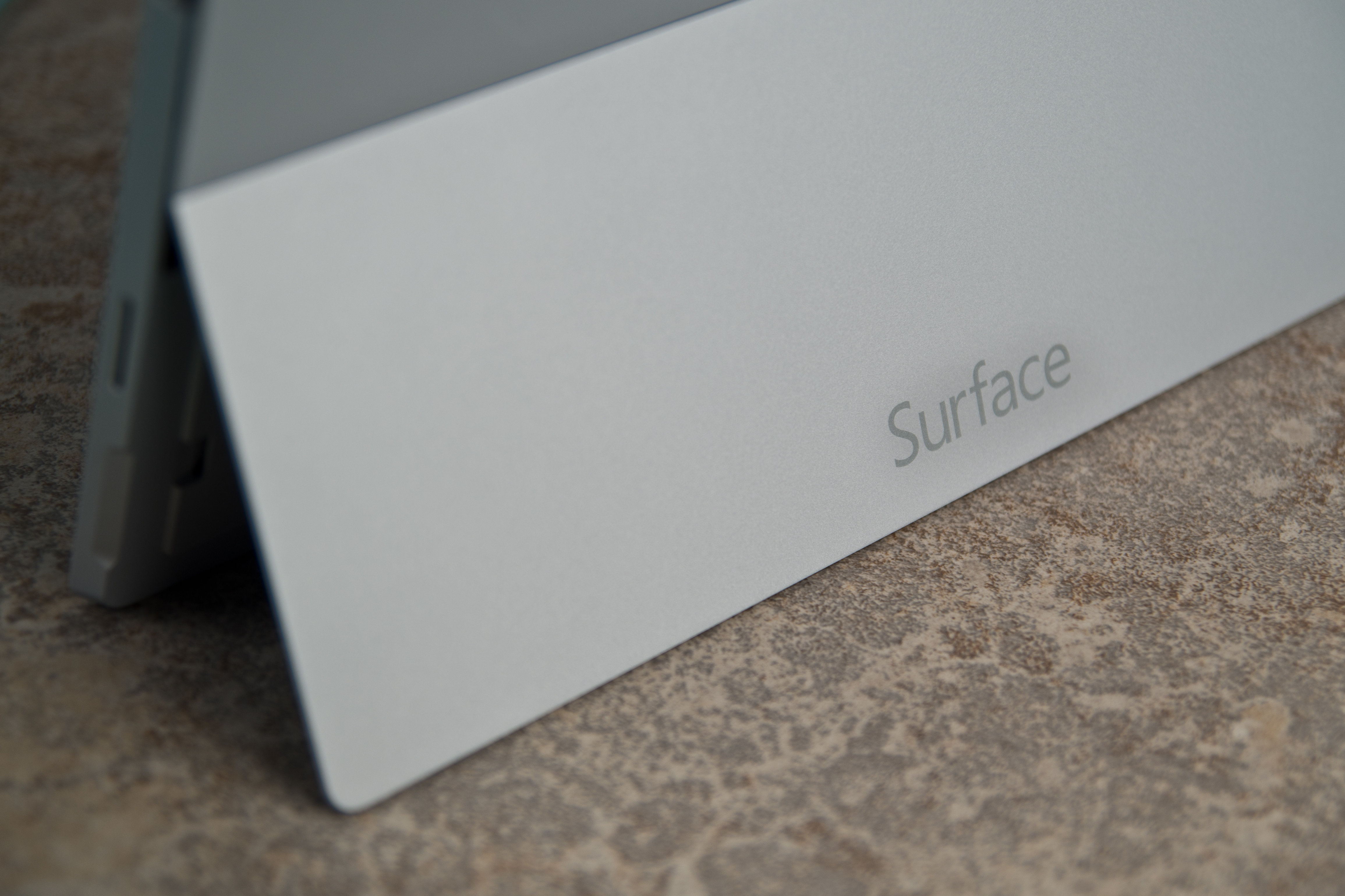 A closer look at the Microsoft Surface Pro 3's kickstand.