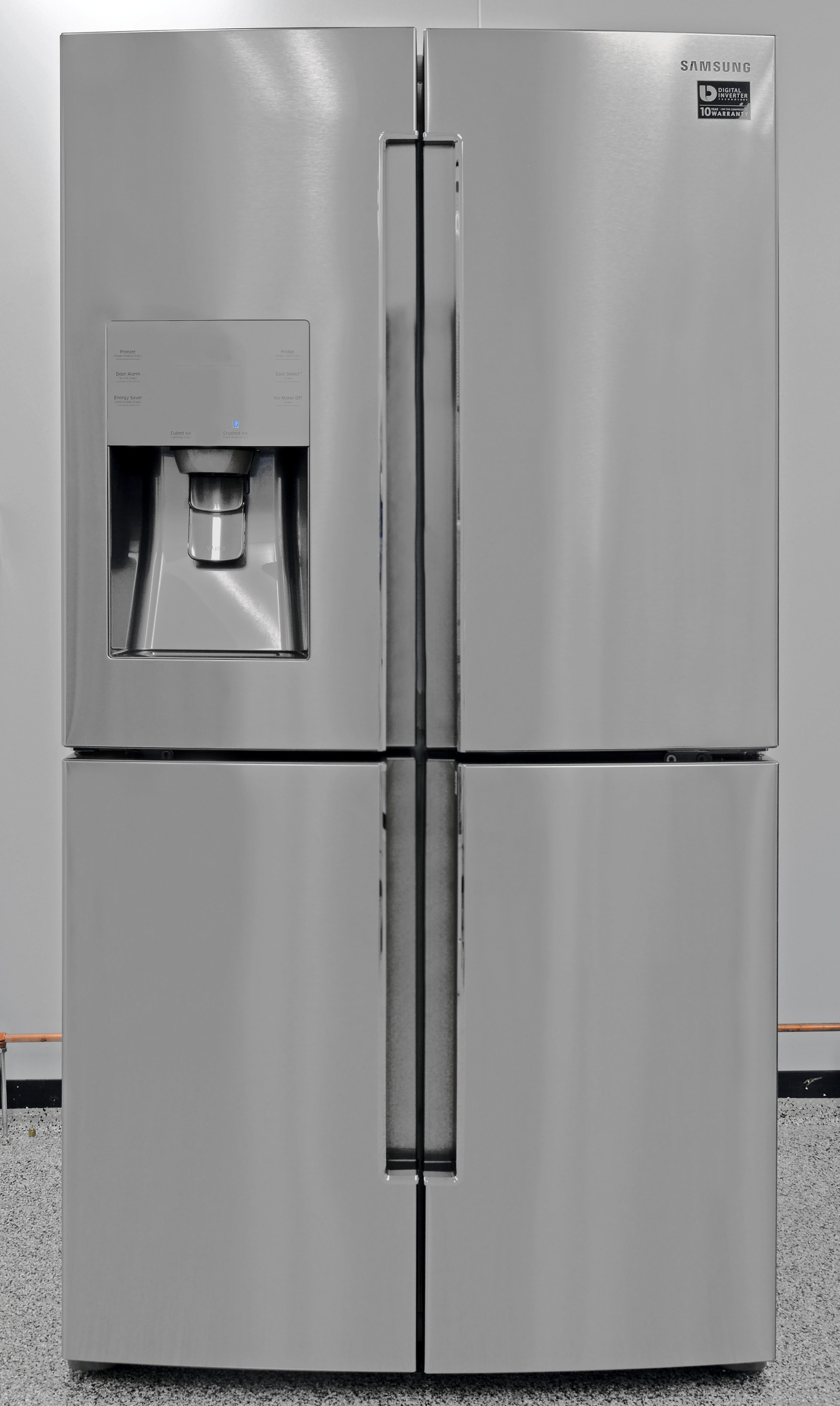The Samsung RF23J9011SR is one of the most attractive counter depth fridges on the market.