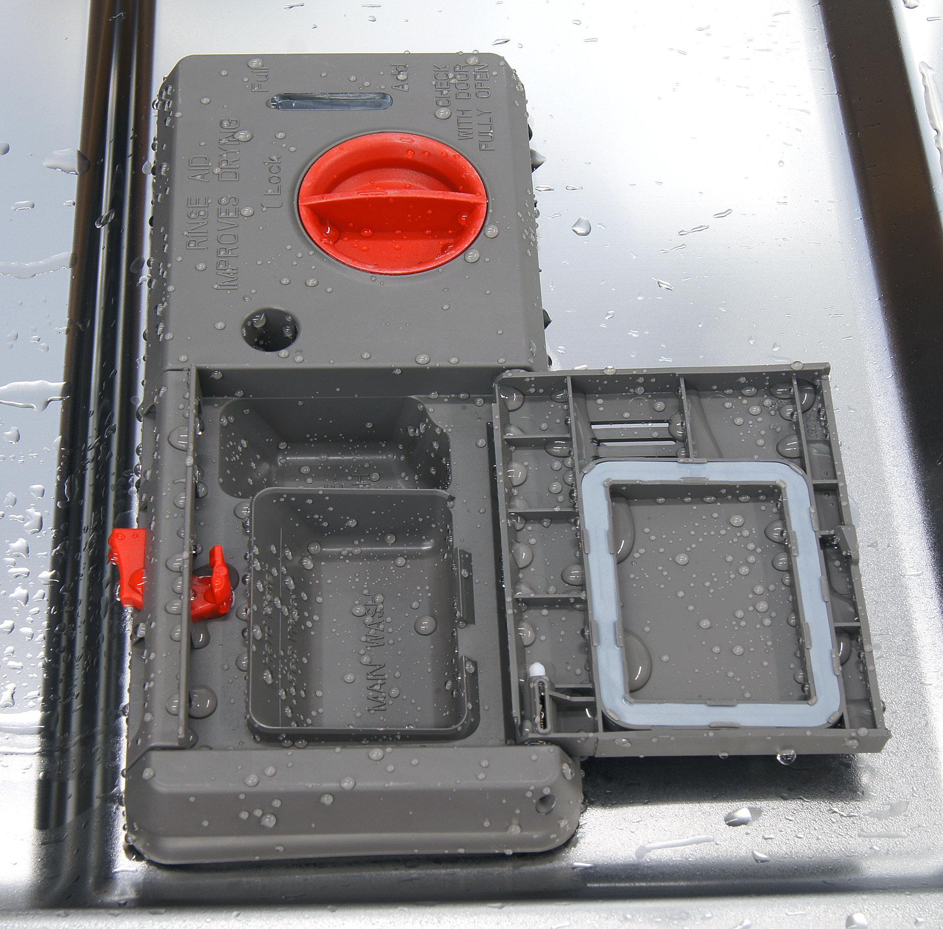 Kenmore Elite 12773 detergent and rinse aid dispenser