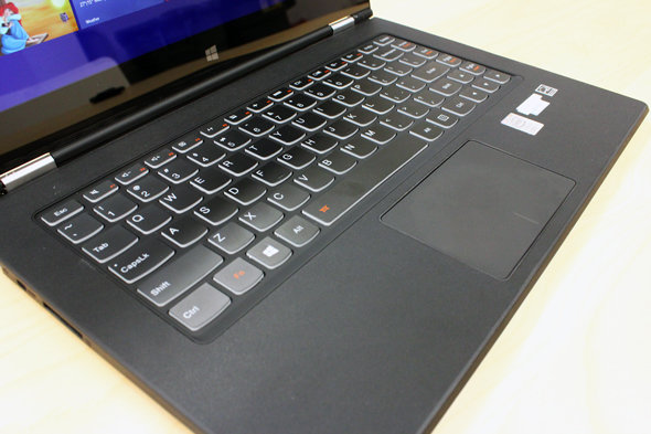 The Yoga 2 Pro's keyboard is fantastic, while its touchpad is a disappointment.
