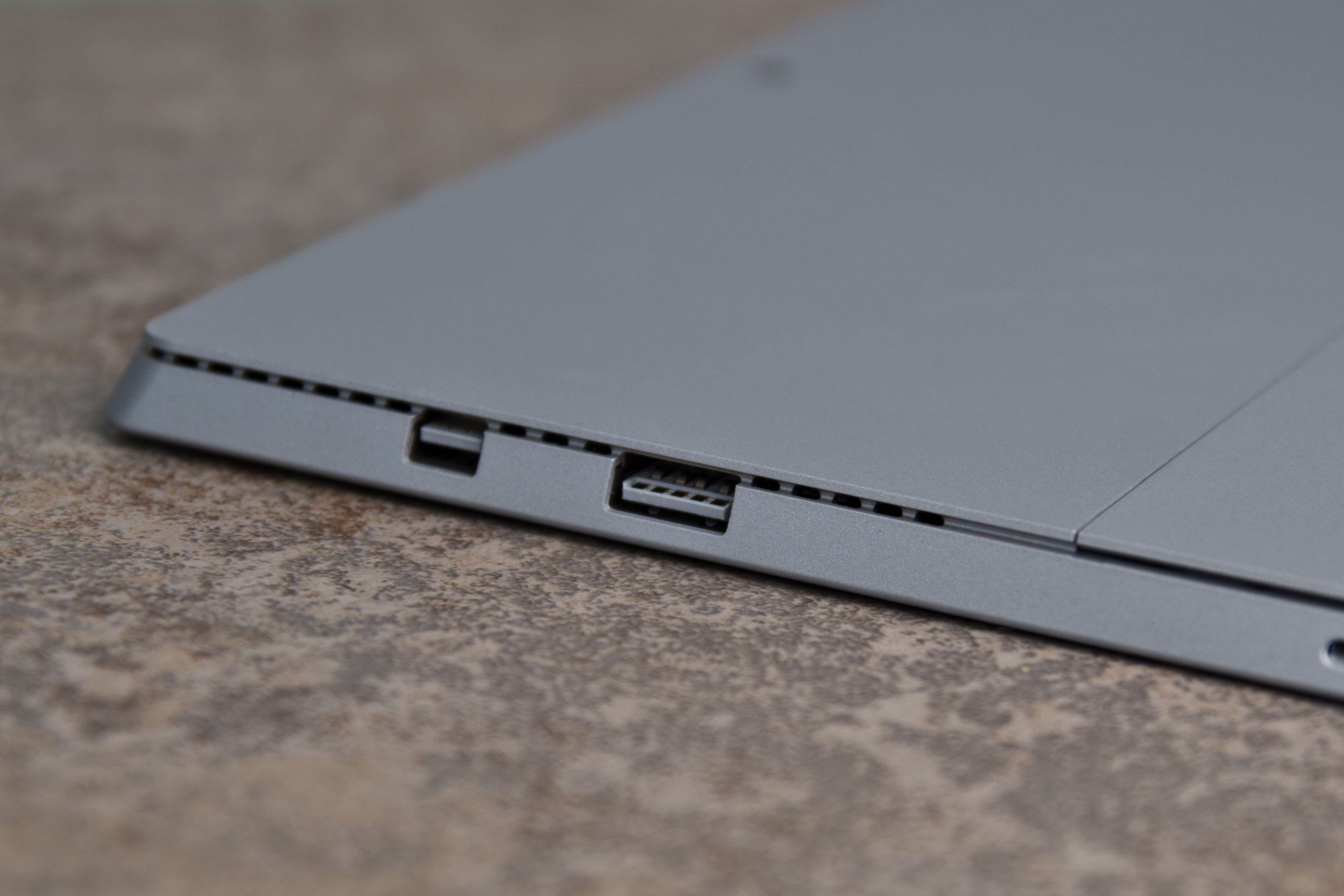 A closer look at the Microsoft Surface Pro 3's ports.