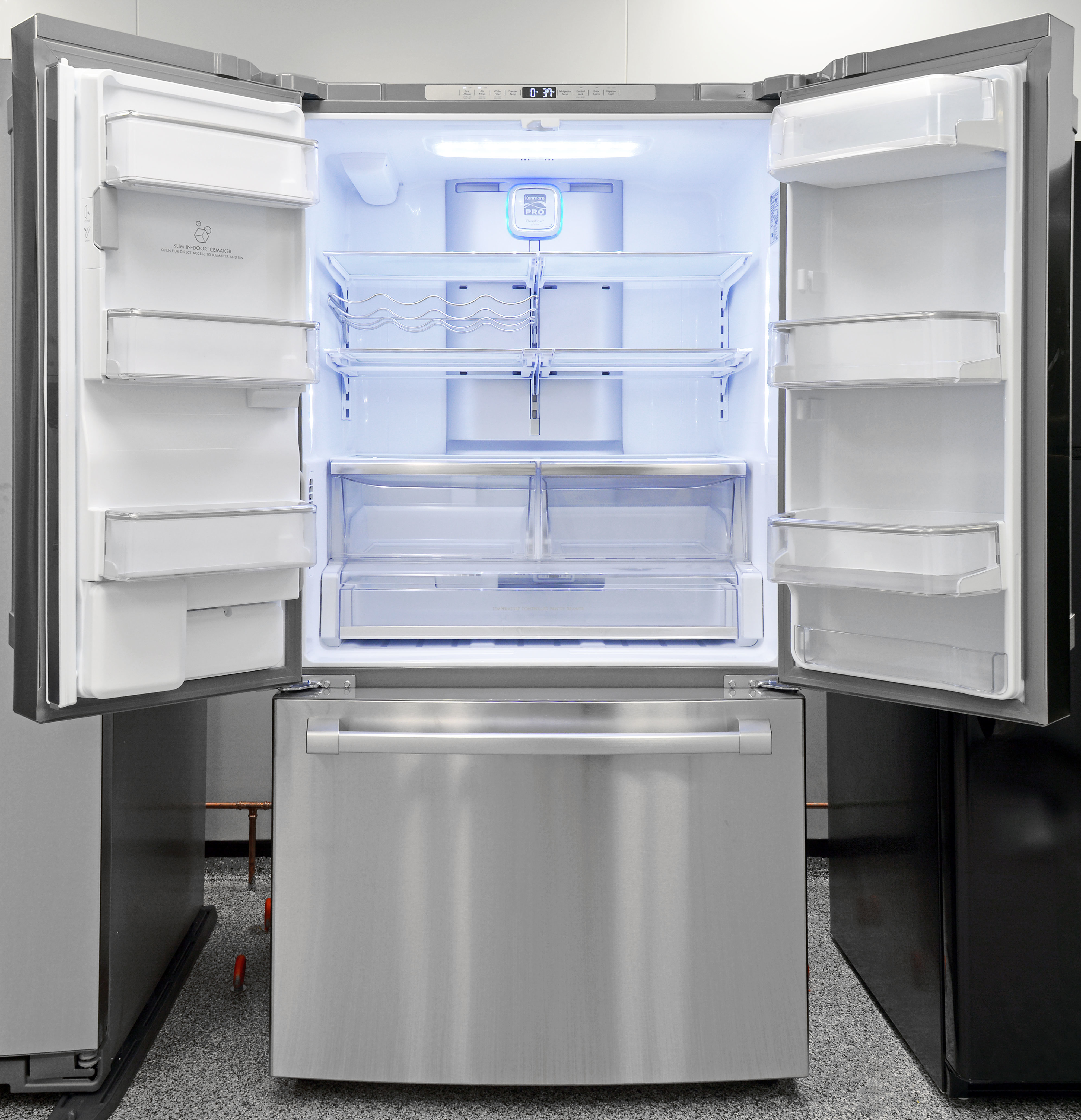 The Kenmore Pro 79993  is stylish, spacious, and counter depth in design–Kenmore's new approach to luxurious appliances.