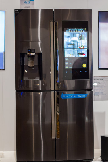 samsung refrigerator touch screen. credit: samsung refrigerator touch screen