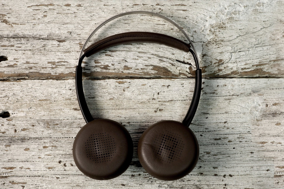 Plantronics Backbeat Sense On Wood