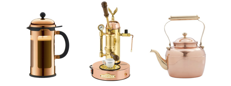 Add a little steampunk to your life with copper cookware and appliances.
