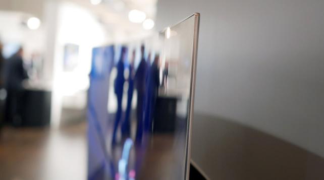 Side view of Panasonic OLED CZ950