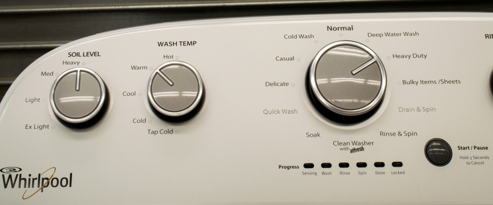 How Much Water Does A Washing Machine Use >> Whirlpool WTW5000DW Washing Machine Review - Reviewed.com Laundry