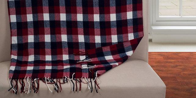 Plaid Throw Blanket