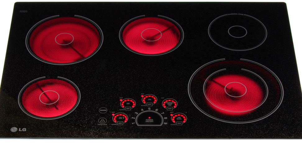 LG LCE3010SB 30-Inch Electric Cooktop Review - Reviewed.com Ovens