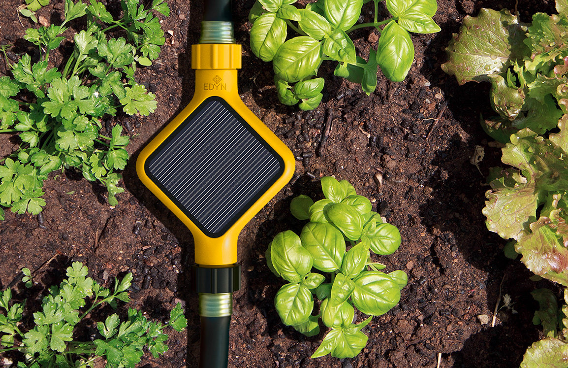 The optional Eden Water Valve communicates with the sensor to keep your  garden green. Welcome to the Smart Garden of Edyn   Reviewed com Smart Home