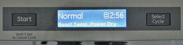 GE PDT760SSFSS Cycle Controls