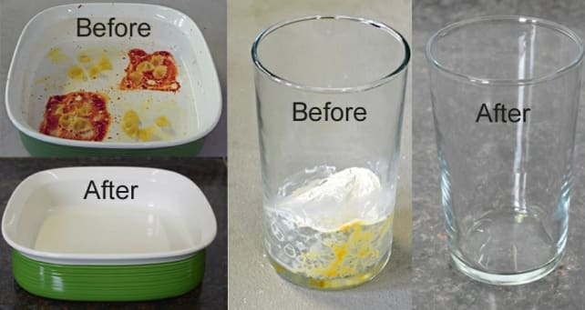 Reviewed.com Dishwasher Testing: Before and After