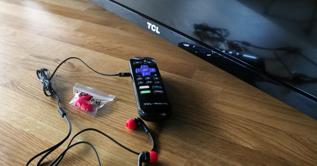 Roku Remote with Headphones