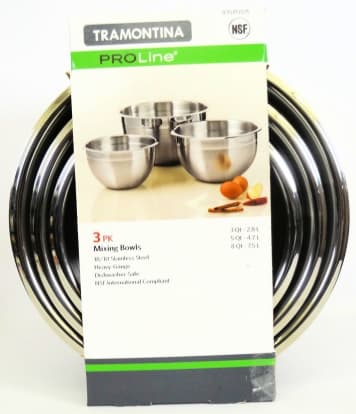 Product Image - Tramontina ProLine 3-Pack Mixing Bowls