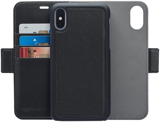 Product Image - AmazonBasics Leather Wallet iPhone X Case