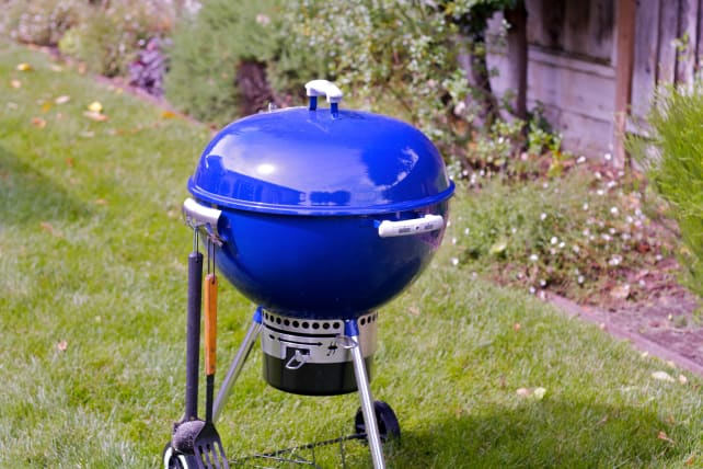 Grill with lid