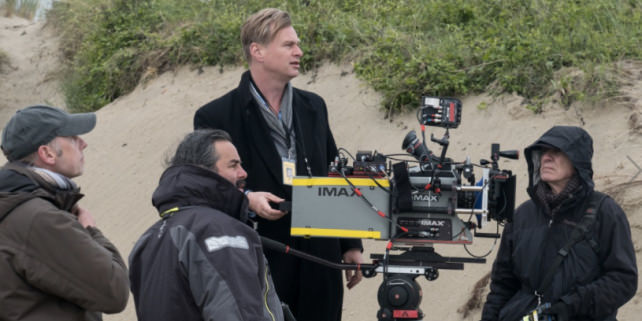 Christopher Nolan with IMAX Camera