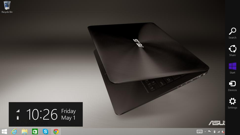 Asus ZenBook UX305 Taskbar