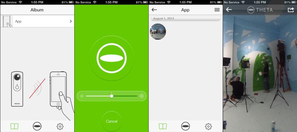 Ricoh Theta App Interface