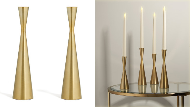 LampLust Brass Candle Holders